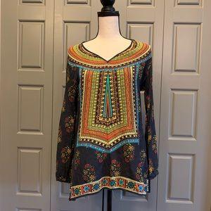 Tolani Silk Boho Printed Tunic